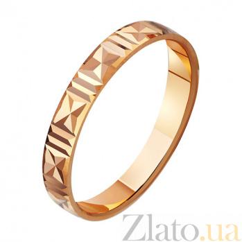 Золотое обручальное кольцо Ода любви TRF--411014