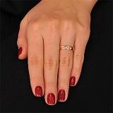 Золотое обручальное кольцо с фианитами Гортензия