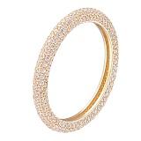 Кольцо в желтом золоте Вилена с фианитами