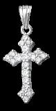 Серебряный крестик с фианитами Галактика