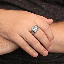 Серебряный перстень Вышиванка с чернением