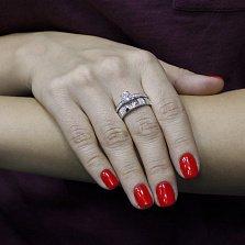 Серебряное кольцо Амадея с фианитами