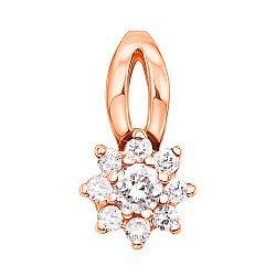 Кулон из красного золота с бриллиантами 000104513