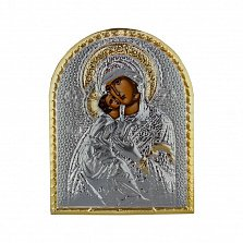 Икона Владимирская Божья Матерь на деревянной основа, 10,6х8,2см