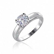 Серебряное кольцо Ристесса с цирконием