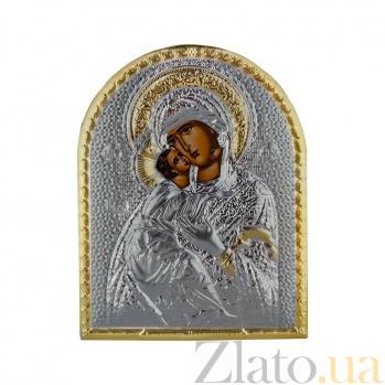 Икона Владимирская Божья Матерь на деревянной основа, 10,6х8,2см 000061927