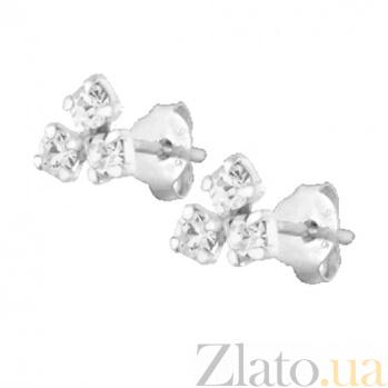 Сережки из серебра Бермудский треугольник  SLX--С1СТ/617