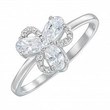 Кольцо из серебра с фианитами 000150629