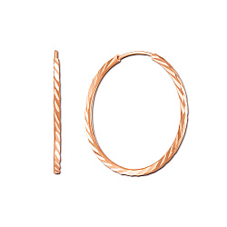 Серьги-кольца из красного золота Шакира, диаметр 3 см
