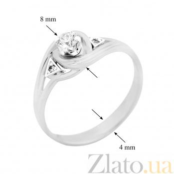Кольцо из белого золота с бриллиантами Бриония 000029261