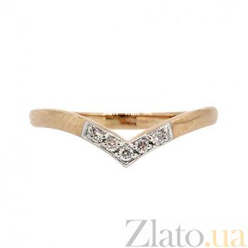Кольцо из красного золота с бриллиантами Сарика 000021432