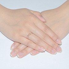 Кольцо в красном золоте Марианна с фианитами