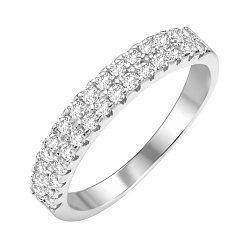 Серебряное кольцо с кристаллами циркония 000112711