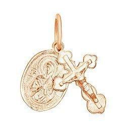 Серебряный крестик с ладанкой Духовное совершенство с позолотой 000025227