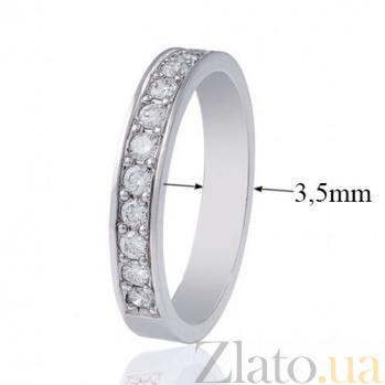 Обручальное кольцо из белого золота  с бриллиантами Преклонение EDM--КОА7132/1
