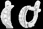 Серебряные серьги с фианитами New Moon SLX--С2Ф/056