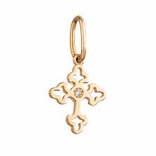 Декоративный золотой крестик Ажур
