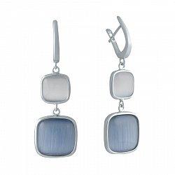 Серебряные серьги с улекситом 000150586
