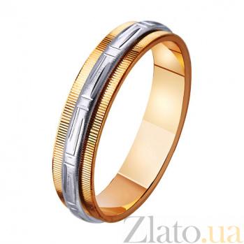 Золотое обручальное кольцо Нежные чувства TRF--441095
