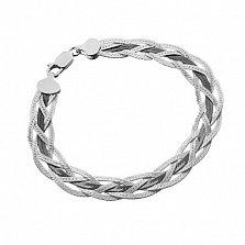 Серебряный браслет Луанда с чернением, 5 мм