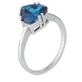 Кольцо из серебра с синим фианитом Альфинур