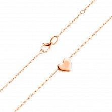 Колье из красного золота Юнона с подвеской в форме сердца
