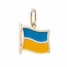 Золотой подвес Моя Украина с эмалью