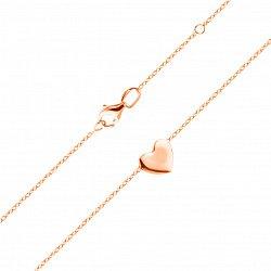 Колье из красного золота с подвеской в форме сердца 000105630