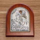 Серебряная икона Дмитрий с позолотой