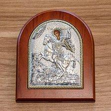 Серебряная икона Дмитрий с позолотой, 12х10см