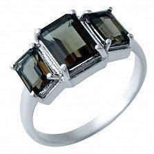 Серебряное кольцо Зарита с раухтопазом