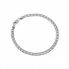 Серебряный браслет Блюз с родированием, 2,5 мм