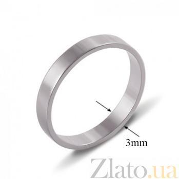 Обручальное кольцо из белого золота Классика 10103б