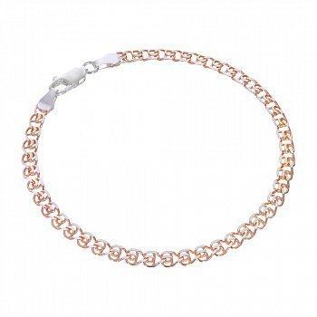 Серебряный браслет с позолотой, 5 мм 000072118