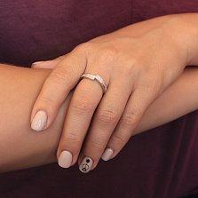 Серебряное кольцо Амарис с фианитами