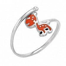 Серебряное кольцо Ослик с эмалью