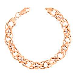 Золотой браслет в комбинированном цвете 000103649