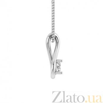 Золотой подвес в белом цвете с бриллиантом Слеза Исиды 000030756