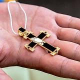 Золотой крест Истина с бриллиантами и эмалью