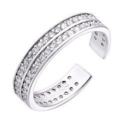 Серебряное кольцо на фалангу с цирконием 000044821