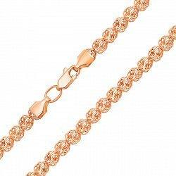Цепочка из красного золота в плетении Роза 000129031