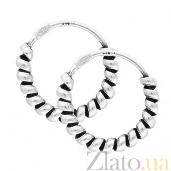 Серьги из серебра Фламенко SLX--С5/338