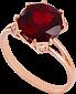 Золотое кольцо Эсфира с гранатом и фианитами 000024505