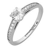 Золотое кольцо с бриллиантами и аквамарином Венец