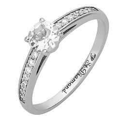 Золотое кольцо с бриллиантами и аквамарином Венец 000020880