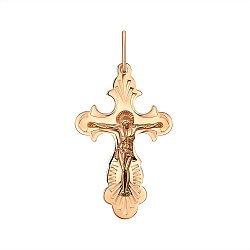 Крестик из красного золота 000141401