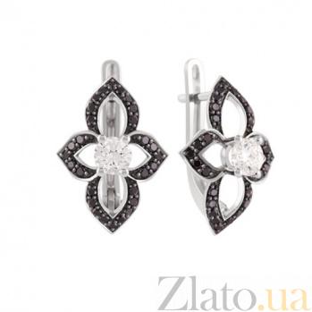 Серьги из белого золота с бриллиантами Томила KBL--С2458/бел/брилл