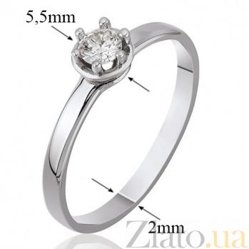 Кольцо из белого золота Дамиани с кристаллом Swarovski 000010271