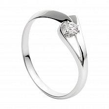 Кольцо из белого золота с бриллиантом Женевьева