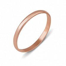Кольцо обручальное из красного золота Любовь и верность, 2мм